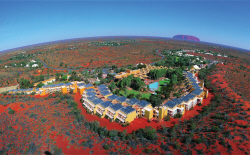 Ayers Rock Resort - aerial view