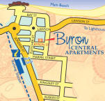 Byron Central Apartments - Map