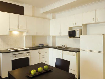Oaks Goldsbrough Apartments Kitchen