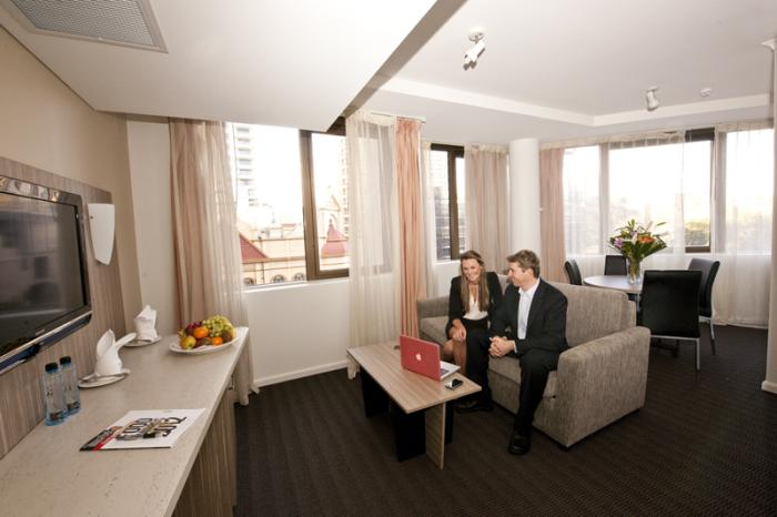 Metro Hotel Sydney Central Junior Suite Living